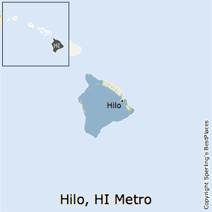 Hilo,Hawaii Metro Area Map
