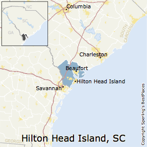 Hilton_Head_Island-Bluffton-Beaufort,South Carolina Metro Area Map