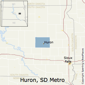 Huron,South Dakota Metro Area Map