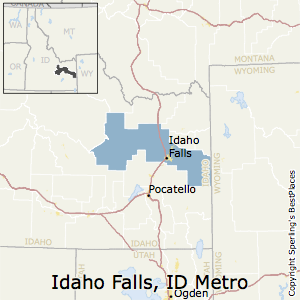 Idaho_Falls,Idaho Metro Area Map