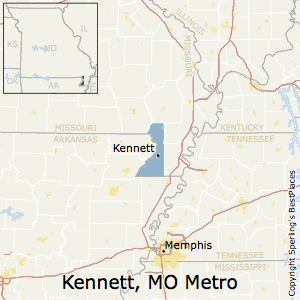 Kennett,Missouri Metro Area Map