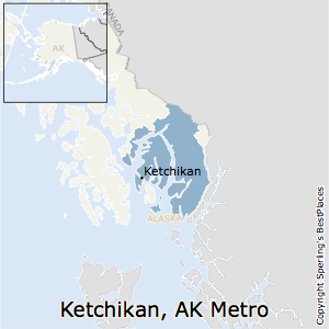Ketchikan,Alaska Metro Area Map