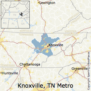 Knoxville,Tennessee Metro Area Map