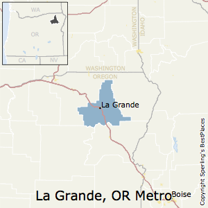 La_Grande,Oregon Metro Area Map