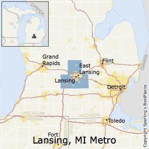 Lansing-East_Lansing,Michigan Metro Area Map