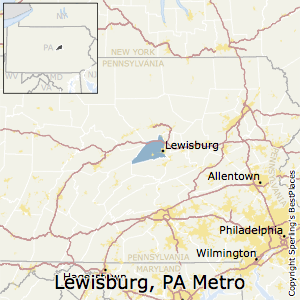 Lewisburg,Pennsylvania Metro Area Map