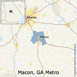 Macon,Georgia Metro Area Map
