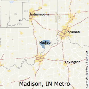 Madison,Indiana Metro Area Map