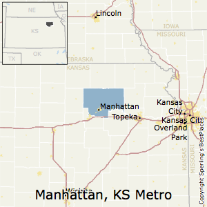 Manhattan,Kansas Metro Area Map