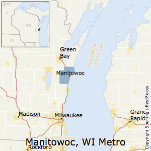 Manitowoc,Wisconsin Metro Area Map