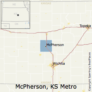 McPherson,Kansas Metro Area Map