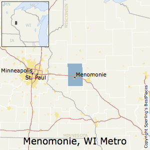 Menomonie,Wisconsin Metro Area Map