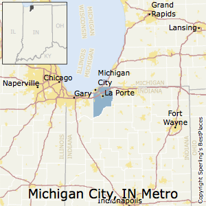 Michigan_City-La_Porte,Indiana Metro Area Map