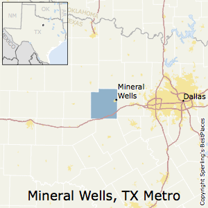 Mineral_Wells,Texas Metro Area Map