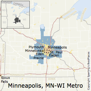 Minneapolis-St._Paul-Bloomington,Minnesota Metro Area Map