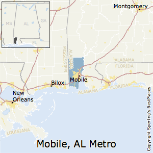 Mobile,Alabama Metro Area Map