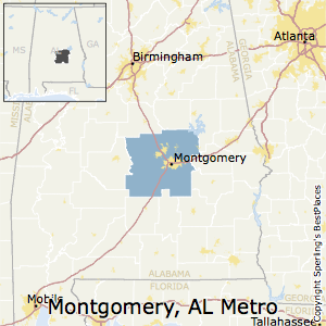 Montgomery,Alabama Metro Area Map