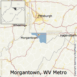Morgantown,West Virginia Metro Area Map