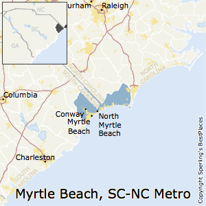 Zip Codes In Myrtle Beach Conway North Metro Area South Carolina