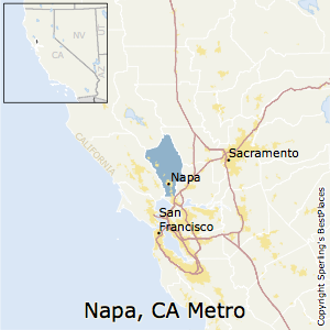 Napa,California Metro Area Map