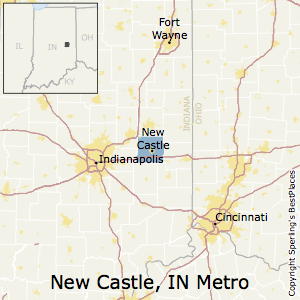 New_Castle,Indiana Metro Area Map