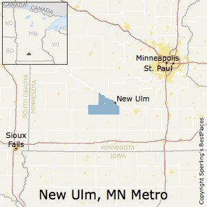 New_Ulm,Minnesota Metro Area Map