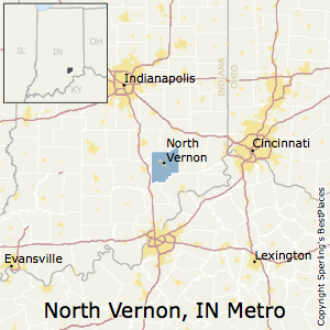 North_Vernon,Indiana Metro Area Map