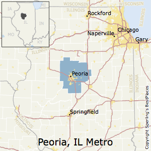 Peoria,Illinois Metro Area Map
