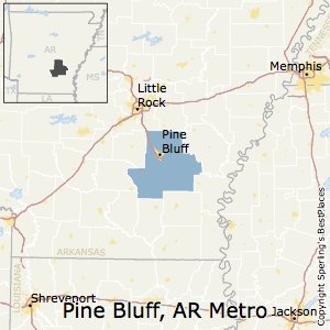 Pine_Bluff,Arkansas Metro Area Map