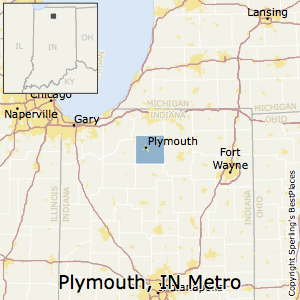 Plymouth,Indiana Metro Area Map
