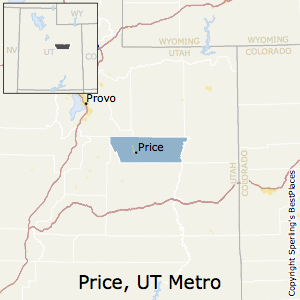 Price,Utah Metro Area Map