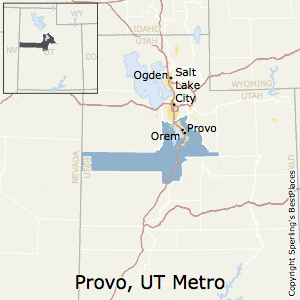 Provo-Orem,Utah Metro Area Map