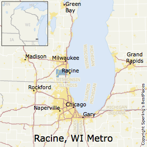 Racine,Wisconsin Metro Area Map