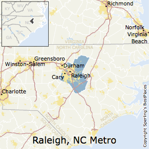 Raleigh,North Carolina Metro Area Map