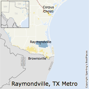 Raymondville,Texas Metro Area Map