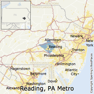 Reading,Pennsylvania Metro Area Map