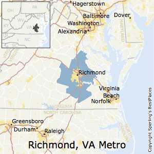 Richmond,Virginia Metro Area Map