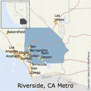 Riverside-San_Bernardino-Ontario,California Metro Area Map