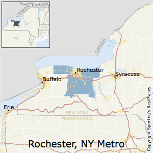 Rochester,New York Metro Area Map