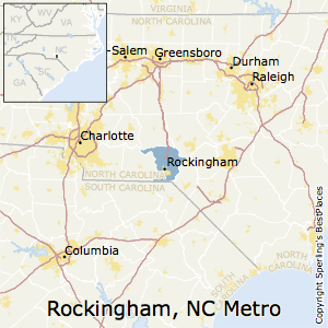 Rockingham,North Carolina Metro Area Map