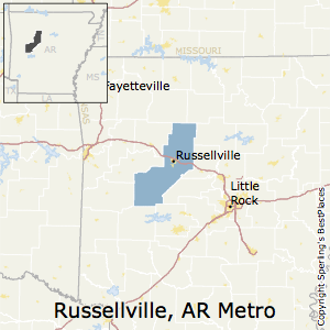 Russellville Arkansas Map.Best Places To Live In Russellville Metro Area Arkansas