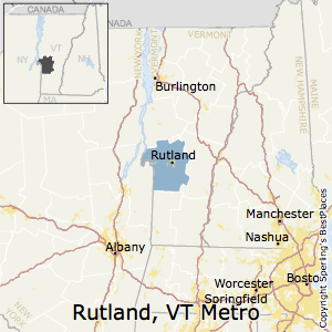 Rutland,Vermont Metro Area Map