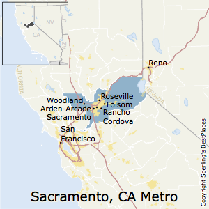Sacramento--Roseville--Arden-Arcade,California Metro Area Map