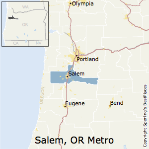 Salem,Oregon Metro Area Map