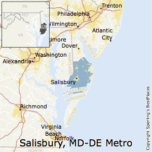 Salisbury,Maryland Metro Area Map
