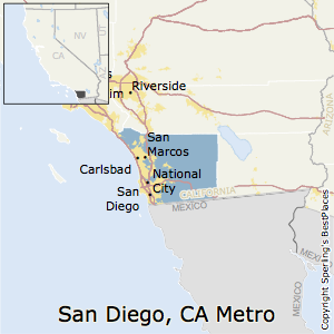 San_Diego-Carlsbad,California Metro Area Map