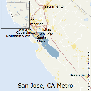 San_Jose-Sunnyvale-Santa_Clara,California Metro Area Map