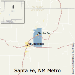 Santa_Fe,New Mexico Metro Area Map