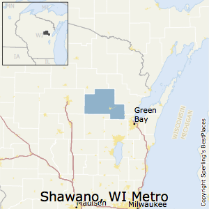 Shawano,Wisconsin Metro Area Map