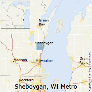 Sheboygan,Wisconsin Metro Area Map